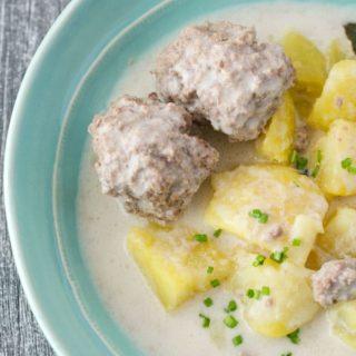 Königsberger Klopse (german meatballs only 4 ingredients) mit nur 6 Zutaten. Extrem schnell und einfach - mega gut.www.einepriselecker.de