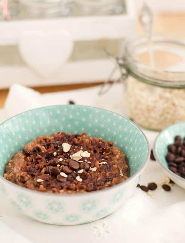 Yummy Chocolate-Coconut Oatmeal-Pudding - Pudding Oats - Eine Prise Lecker