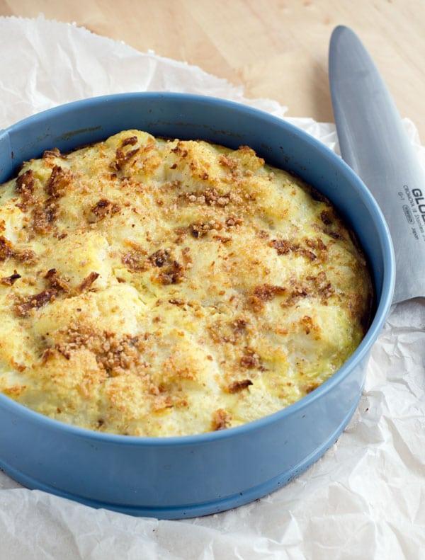 Köstliche low carb Gemüsequiche. Schinkenboden statt Teig. Recipe also in english. www.einepriselecker.de