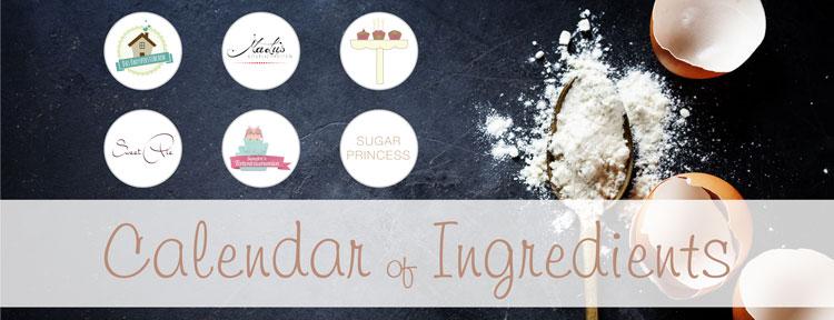 Calendar of ingredients. Blogger event