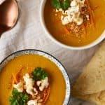 Köstliche und schnell gemachte rote Linsen Möhren Suppe // Delicious and easy to prepare red lentil carrot soup