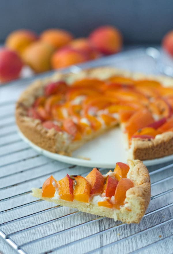 Aprikosentarte mit Ricotta und Lavendelhonig. // apricot-tart with ricotta and lavender-honey. Recipe also in english!