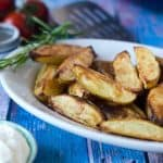 Potato-Wedges aus dem Ofen, außen kross, innen soft. Einfach lecker. Recipe also in english!