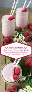 kalorienarmer Strawberry-Cheesecake-Shake. Nur 5 Zutaten, lecker, sättigend und gesund. Recipe also in english!
