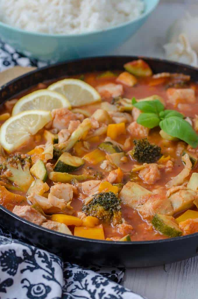 Leckeres mediterranes Fischragout. Absolut kalorienarm und null Weight Watchers Smartpoints. www.einepriselecker.de