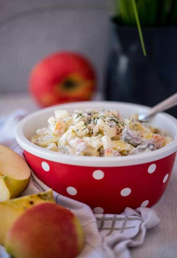 Leichter Matjes-Kartoffelsalat nach Hausfrauenart
