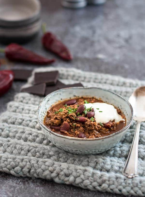 Chili Con Carne Mit Zimt Und Dunkler Schokolade Hello Snow Eine