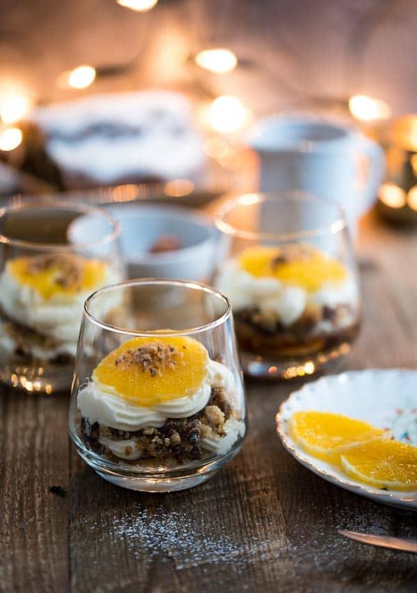 Stollen-Schichtdessert mit Orangen und Espresso