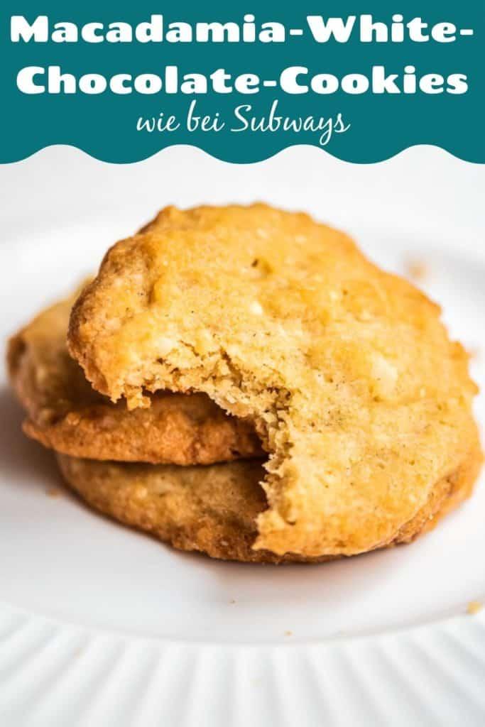 Collage für Pinterest mit Bild der Cookies und Text drüber