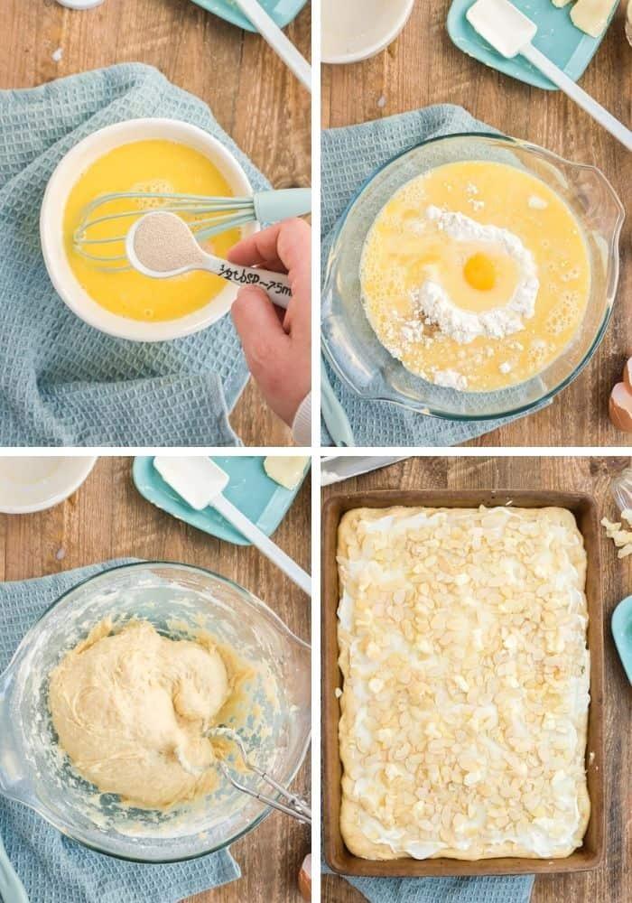 Zubereitungsschritte für den Butterkuchen