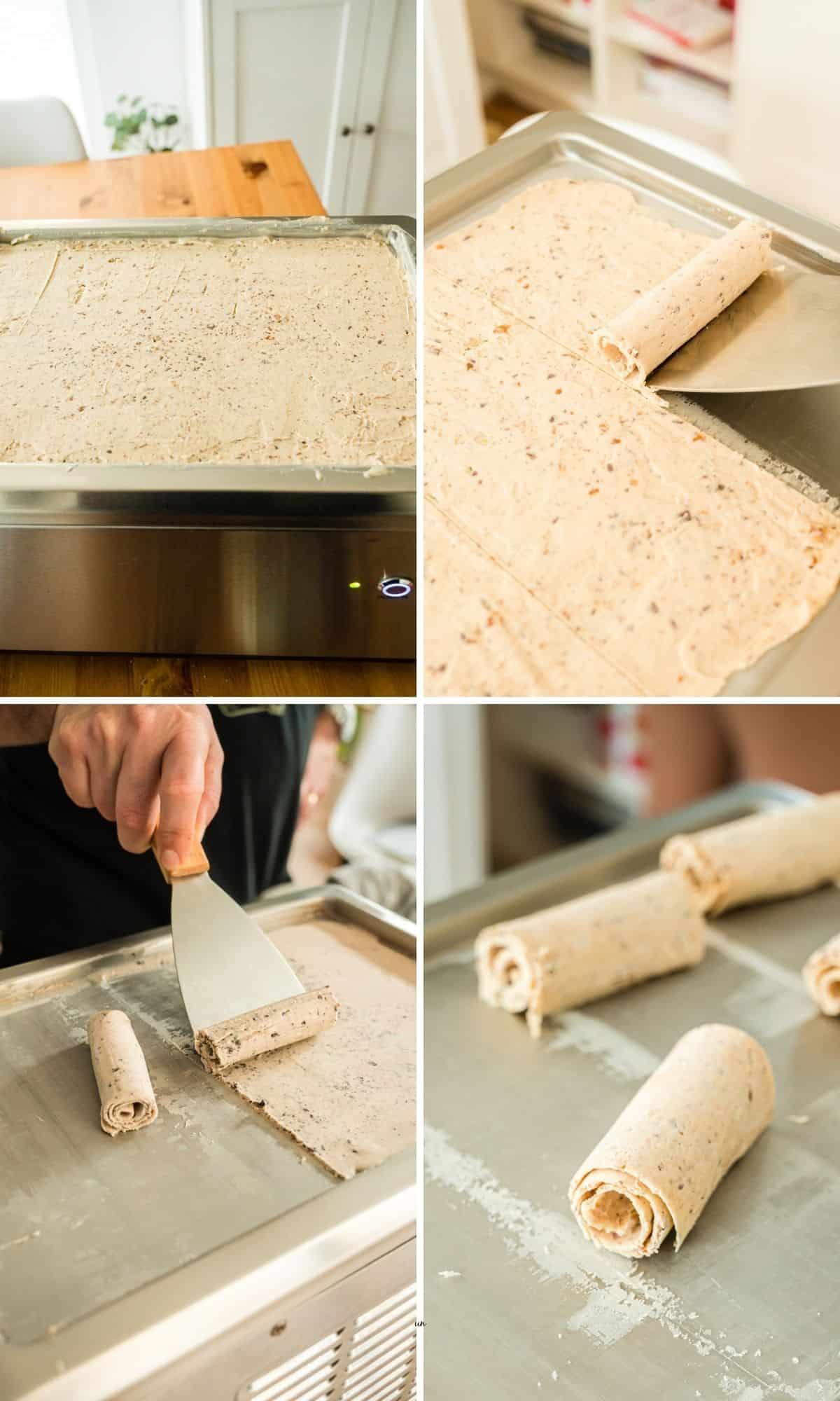 Collage mit 4 Bildern der Zubereitungsschritte
